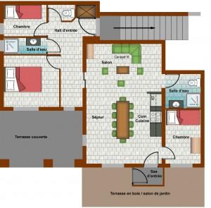 Plan de la location à la toussuire - res=z-de-jardin